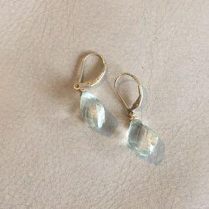 NWOT Green aquamarine earrings